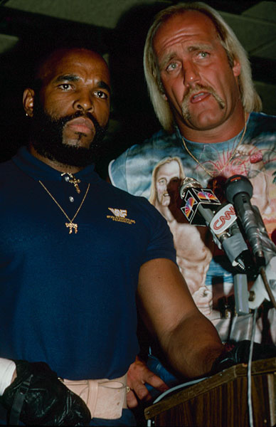 Hulk Hogan and Mr. T :: Getty Images