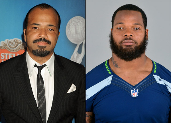 Jeffrey Wright: actor (Boardwalk Empire) and                    Michael Bennett: Seahawks defensive end :: Jeff Kravitz/FilmMagic; AP