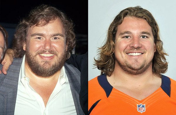 John Candy: actor and                    Zane Beadles: Broncos guard :: Time Life Pictures/DMI/Getty Images; AP