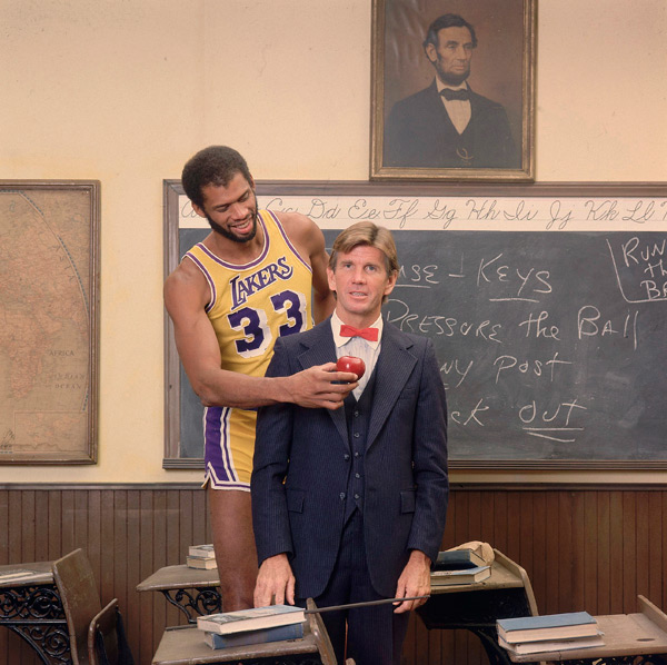 Kareem Abdul Jabbar and Paul Westhead :: Lane Stewart/SI