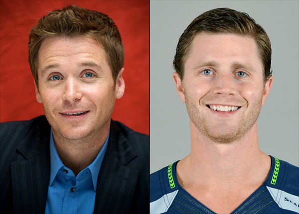 Kevin Connolly: actor (Entourage) and                    Steven Hauschka: Seahawks kicker :: Vera Anderson/WireImage; AP