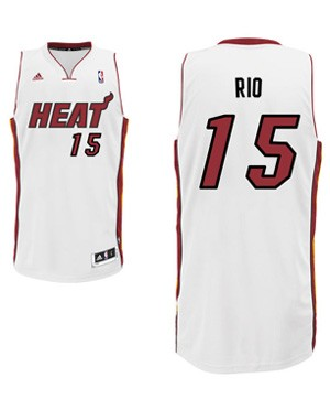 "Heat guard Mario Chalmers' ""Rio"" nickname jersey. (Heat.com)"