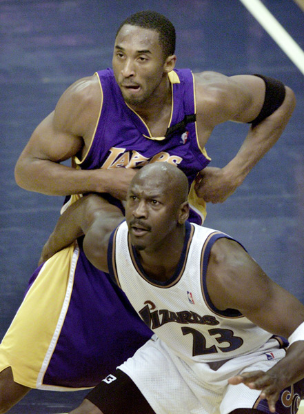 Michael Jordan and Kobe Bryant :: Reuters