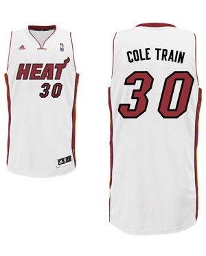 "Heat guard Norris Cole's ""Cole Train"" nickname jersey. (Heat.com)"