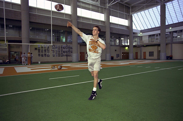 After throwing 20 touchdowns his junior season, Peyton Manning decided to return to Tennessee in 1997 for his senior season. (Bill Frankes/SI)