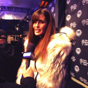 @ModelCarolAlt: Black carpet at Super Bowl party in NYC
