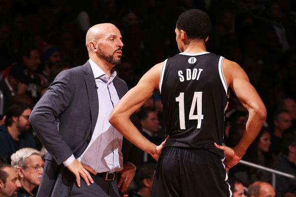 "Nets guard Shaun Livingston wears his ""S Dot"" nickname jersey. (Nathaniel S. Butler/Getty Images)"
