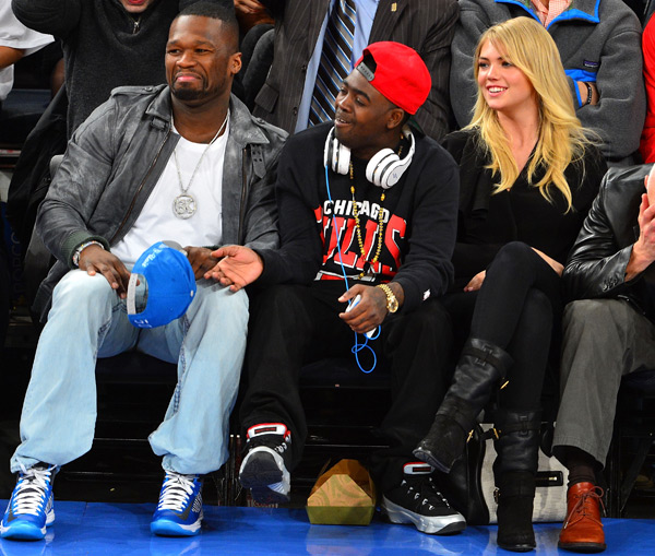 Kate Upton and 50 Cent :: James Devaney/WireImage