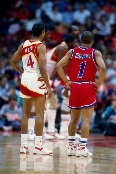 Spud Webb and Muggsy Bogues :: Getty Images