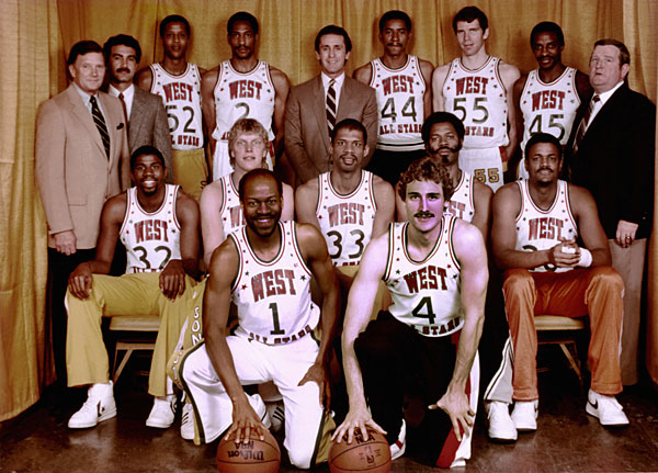 NBA Western Conference All-Stars (1983) :: Getty Images
