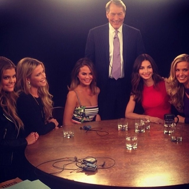 @lilyaldridge: @CharlieRoseShow: Celebrating 50 years of the @si_swimsuitedition tonight at 11pm ET @pbs  @ninaagdal @czechstervv@chrissyteigen @pnemcova
