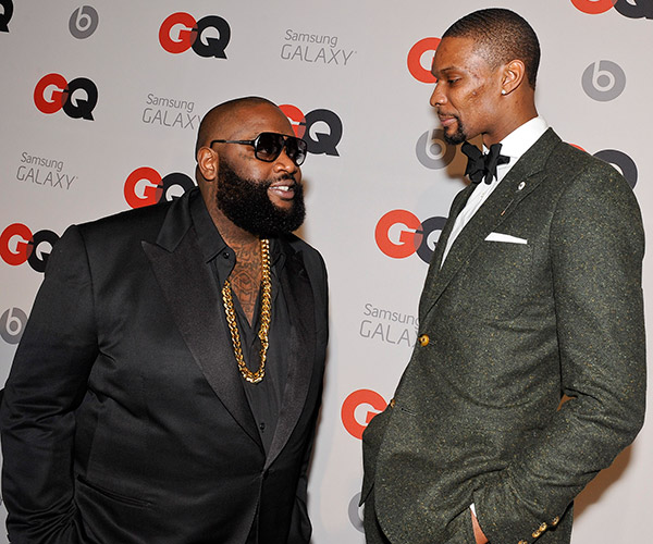 Rick Ross, Chris Bosh (Erika Goldring/Getty Images)