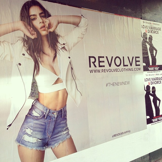 @emrata: Fun to run into yourself in NYC  So excited for the launch of#thenewnew campaign for @revolveclothing tomorrow