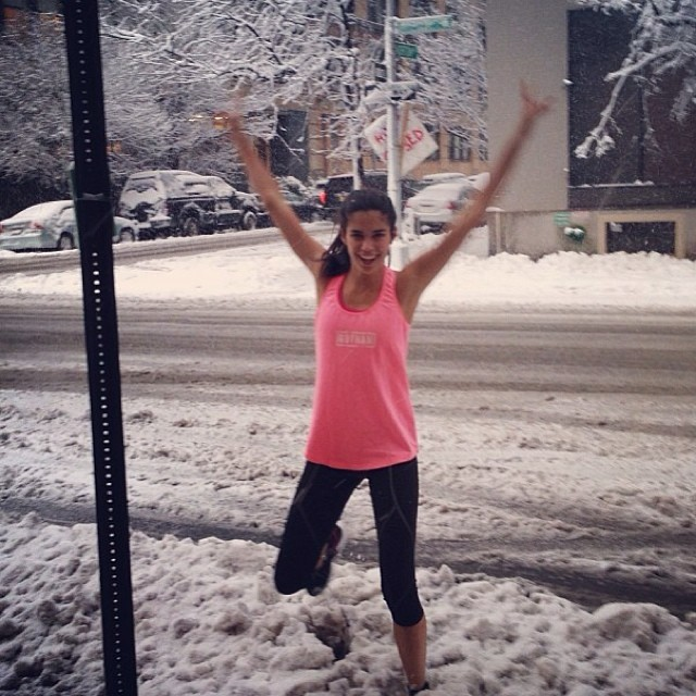 @sarasampaio: @gothamgym bringing the stupid person in me! Lol #snow #ny