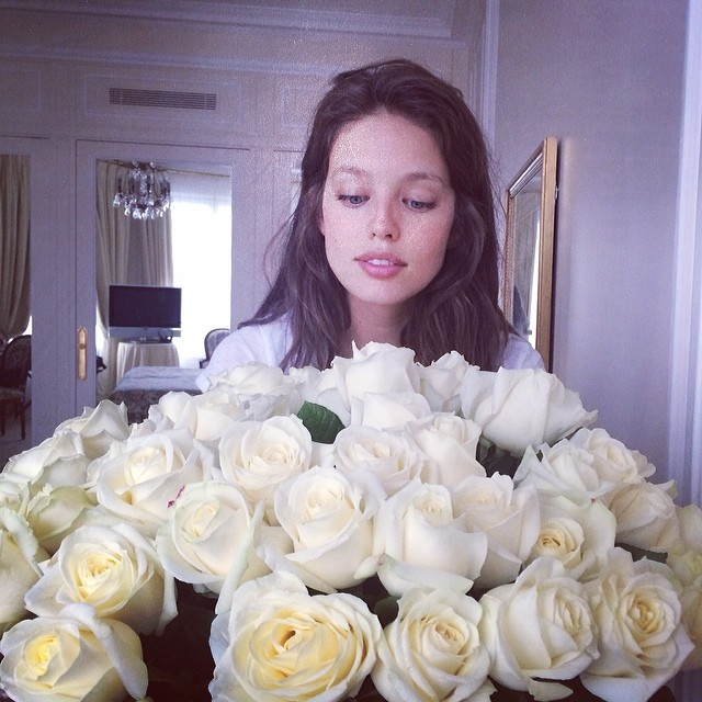 @emilydidonato1: Thank you @sel07 @lemire_img @sbermood and everyone at my @imgmodels family for the birthday love! Happy to have these next to my bed in Paris.