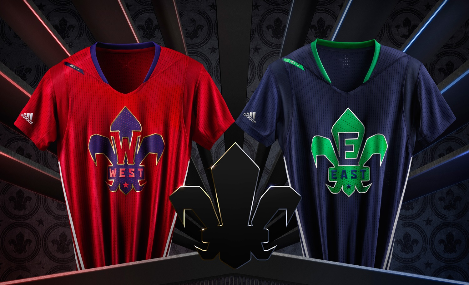 2014 NBA All-Star jerseys (Courtesy of Adidas)