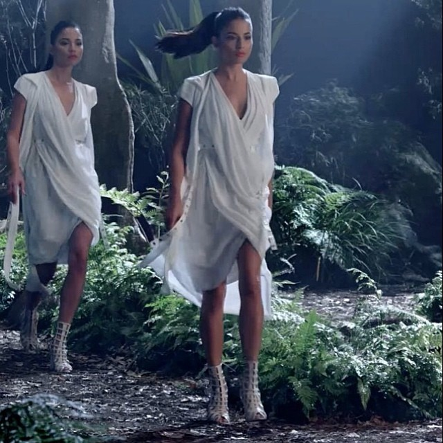 @iamjessicagomes: Love the @davidjonesstore TVC directed by Clemens Habicht. #djsfashion #AWlaunch. Styled by @graygardens #WHYBIN #thepresets #ghosts