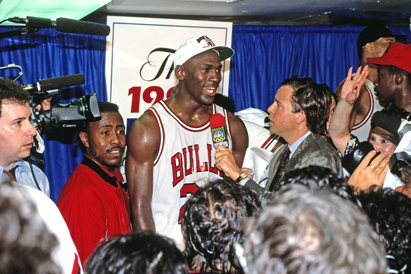 Michael Jordan and Bob Costas :: Getty Images
