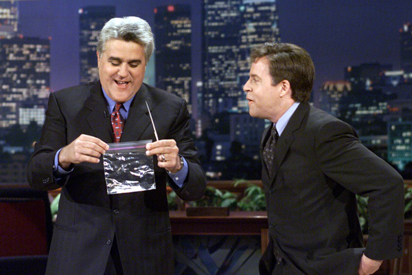 Jay Leno and Bob Costas :: Getty Images