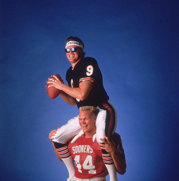 Brian Bosworth and Jim McMahon:: Heinz Kluetmeier/SI