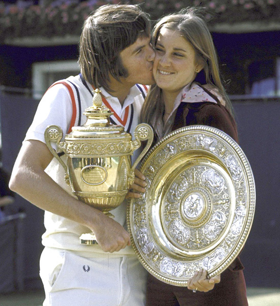 Jimmy Connors and Chris Evert :: Tony Triolo/SI