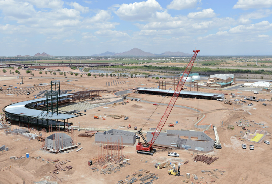 Cubs Park in construction (courtesy Chicago Cubs)