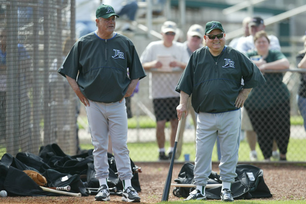 Lou Piniella and Don Zimmer (2004) :: Chuck Solomon/SI
