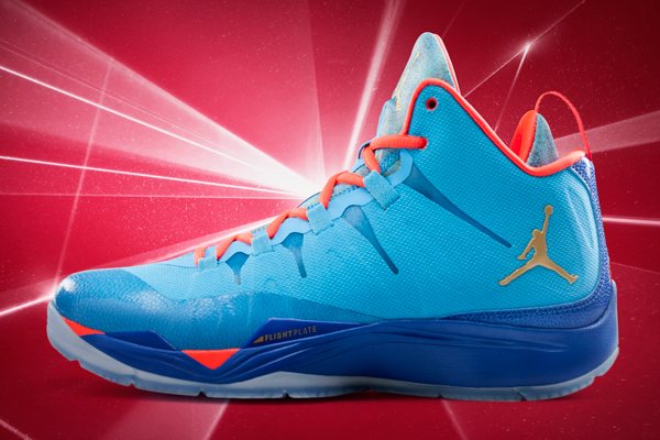 "The 2014 All-Star Game version of Blake Griffin's ""Super.Fly 2"" sneakers. (Jordan)"