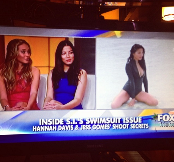 @iamjessicagomes: With my babes @hanni_davis on @foxandfriends talking @sportsillustrated #siswim50