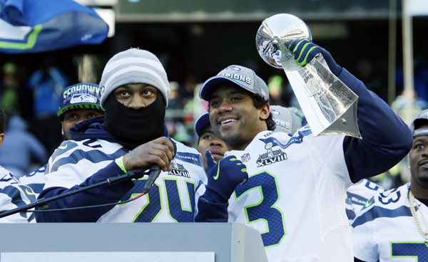 Marshawn Lynch and Russell Wilson :: AP
