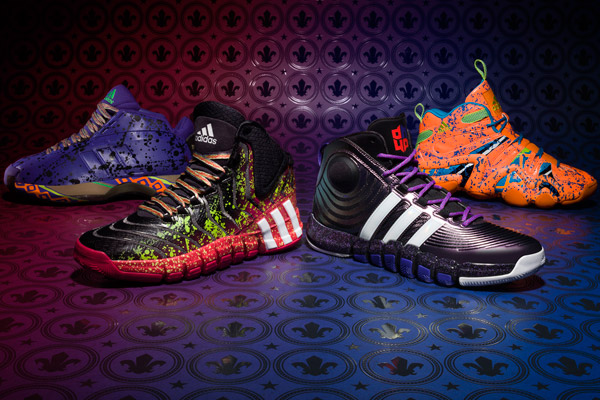 Adidas has unveiled four sneakers in conjunction with the 2014 NBA All-Star Game. (Adidas)