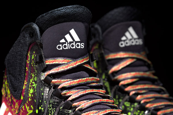 "A detail look at the ""Crazyquick 2"" All-Star sneakers by Adidas. (Adidas)"