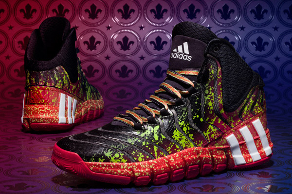 "Damian Lillard and John Wall will wear the ""Crazyquick 2″ sneakers by Adidas at the 2014 All-Star Game. (Adidas)"