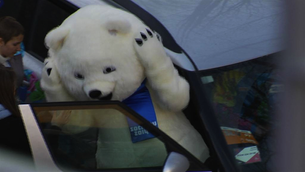 Maybe you shouldn't ride shotgun, Nightmare Bear. (NBC News)