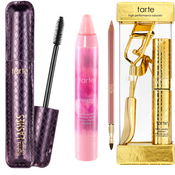 "Lights, camera, lashes 4-in-1 mascara; LipSurgence Skintuitive lip tint; Amazonian clay universal lip liner; Strike a pose lash curler and deluxe lights, camera, flashesâ""¢ statement mascara"