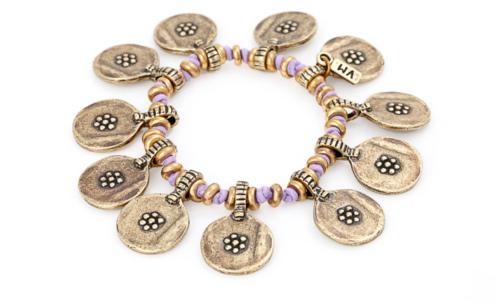 Bohéme Bracelet in brass/lavender