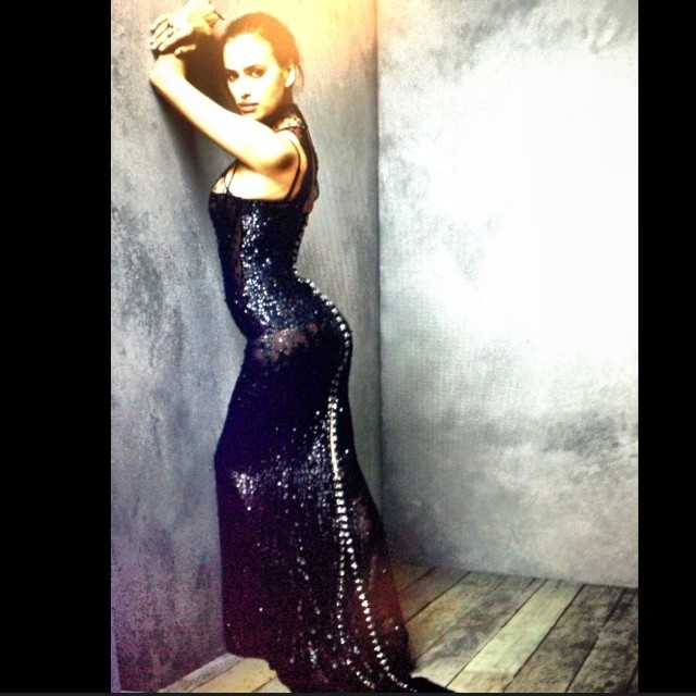 @irinashayk: Thank u @vanityfair @markseliger for my beautiful shoot #vfparty portrait studio in @versace_official