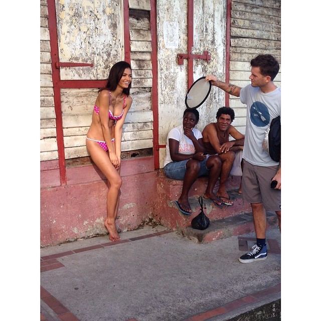 @crisuruena: Fun Shoot in St.Lucia #fbf #SISwim50 @walteriooss @mj_day @ja_neyney@darciebaum @si_swimsuit