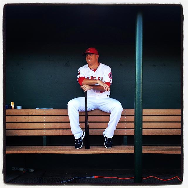 Mike Trout :: Brad Mangin/SI, @bmangin