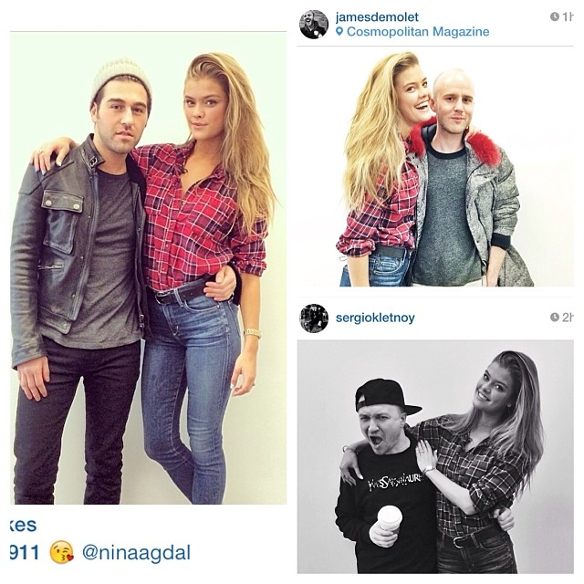 @ninaagdal: Triple awww! So nice to see you guys today @sbro911 @jamesdemolet@sergiokletnoy @cosmopolitan