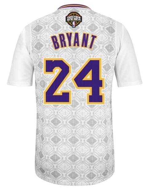 "The Los Angeles Lakers' ""Latin Nights"" sleeved jersey for Kobe Bryant. (NBA.com)"