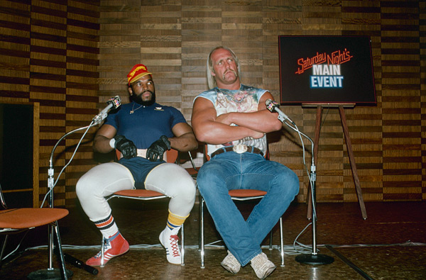 Mr. T and Hulk Hogan (1985) :: Getty Images