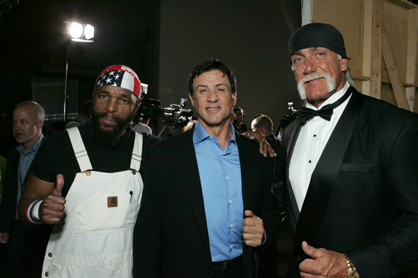 Mr. T, Sylvester Stallone and Hulk Hogan (2007) :: Getty Images