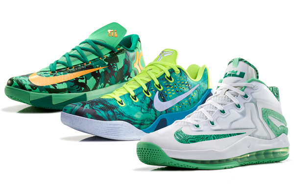 "Nike has unveiled the ""Easter Collection"" for, from left: Kevin Durant, Kobe Bryant and LeBron James. (Nike)"