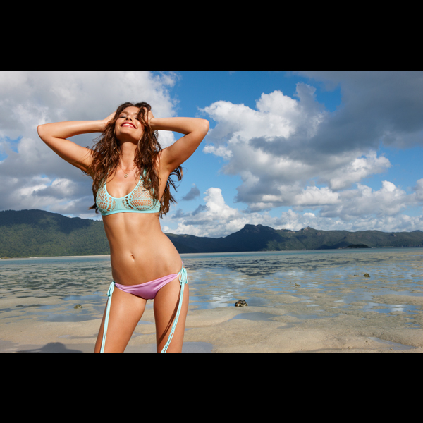 Alyssa Miller in the Seychelles, 2012