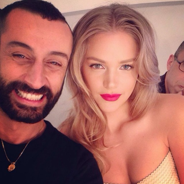 @estiginzburg100: Good morning to my #1 makeup artist, and brother from another mother  #april#makeup#shoot#goodday