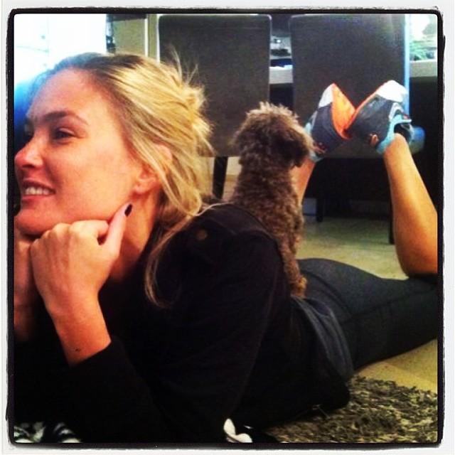 @barrefaeli: My dog found a new comfortable spot