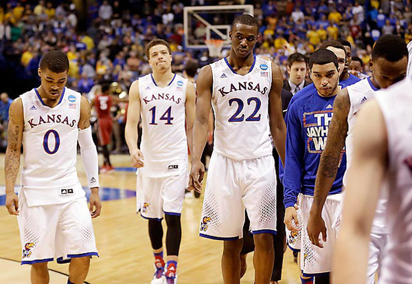 Kansas (eliminated by Stanford, 60-57) :: AP