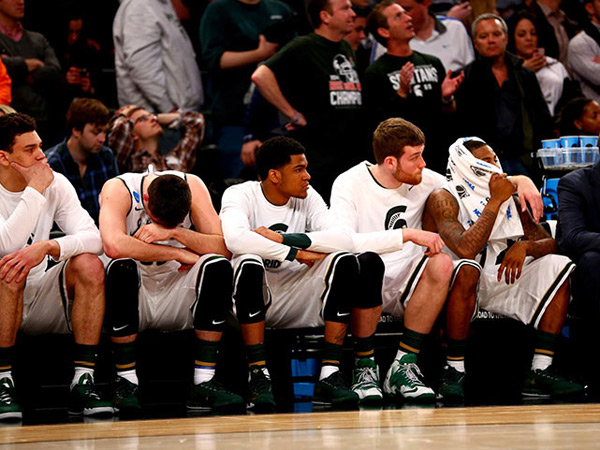 Michigan State (eliminated by UConn, 60-54) :: Al Tielemans/SI