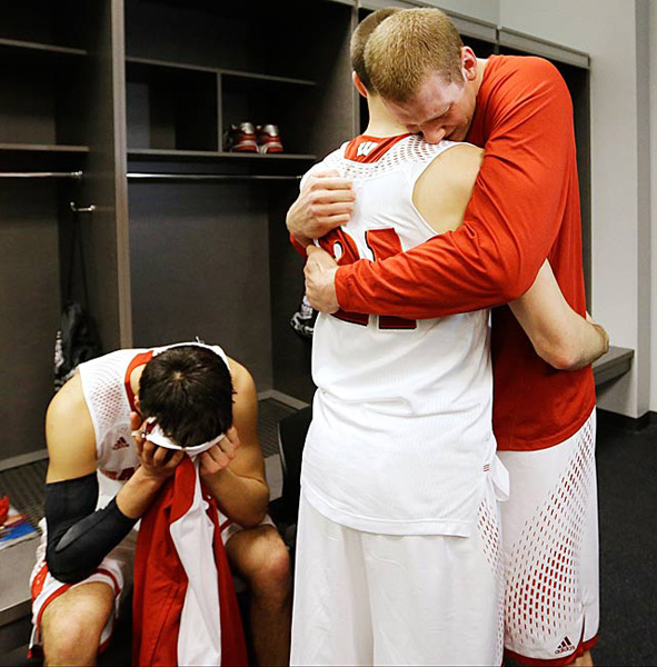 Wisconsin (eliminated by Kentucky, 74-73) :: AP